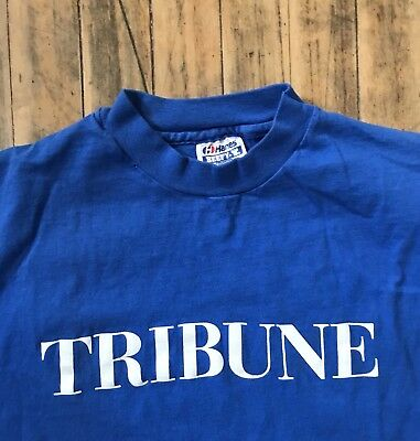 Vtg Chicago Tribune T-Shirt 1980s - Size XL, Made in USA
