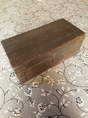 antique wooden storage box vintage possibly military or weapons box
