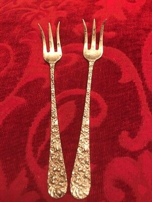 Kirk Stieff REPOUSSE STERLING Seafood Cocktail Set Of 2