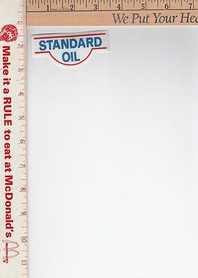 1 thin Standard oil iron on Patch 3 1/4 x 1 3-8  in