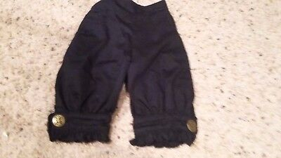 Persnickety Toddler Girls Size 2 Black Bloomers With Button Accents