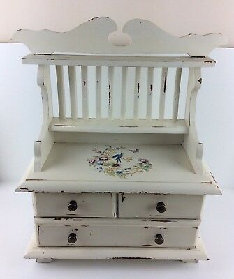 Great Vintage Miniature Shabby Chic French Dresser - Very Detailed Piece