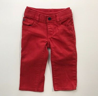 BABY GAP Boys Pull On 1969 Red Jeans Size 6-12 Months EUC