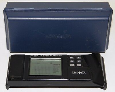 Minolta Program Back Super 90 Data Back For Maxxum 9000