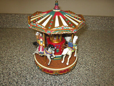 Mr Christmas Animated Musical Holiday Merry Go Round Carousel - 25 songs w/o box