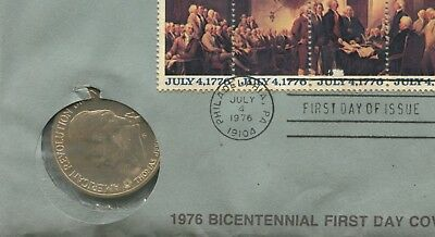 """1975 Bicentennial Medal """"T. Jefferson"""" With FDC (HM1217)"""