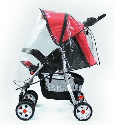 Universal Baby Windproof Rain Cover Wind Shield Fit Most Strollers Pushchairs US