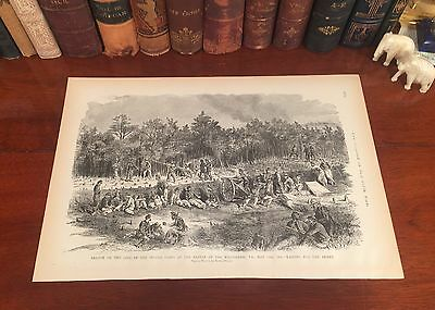 Original Antique Civil War George Custer CAVALRY Culpeper VIRGINIA Panoramic Map