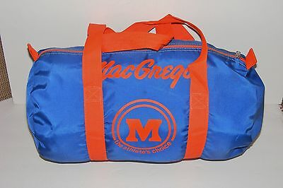 Vintage 1980s Blue Orange MacGregor Athletic Duffle Gym Travel Sports Bag Nylon