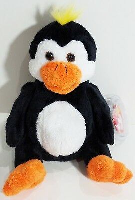 "TY Beanie Babies ""TUX"" Winter Holiday PENGUIN - MWMTs! RETIRED! PERFECT GIFT!"