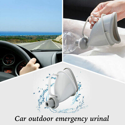 Unisex Portable Mobile Urinal Funnel Toilet Travel Handle Urine Bottle