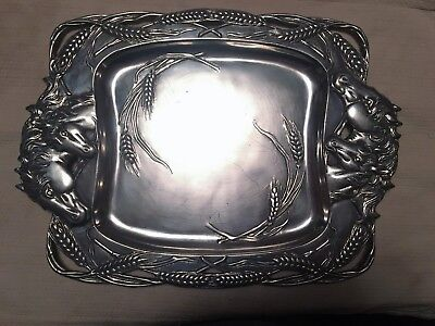 Arthur Court Mare with Colt Horse Equestrian Clutch Tray Platter BEAUTIFUL Wow!!