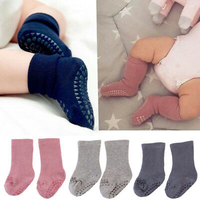 Cute Silica Gel Antiskid Socks Cotton Baby Non-slip Kids Girls Toddlers Socks