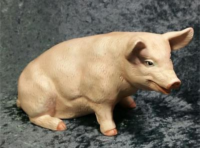 Farm Country Pig Figurine Pink Detailed Cute Face Farmhouse Cottage