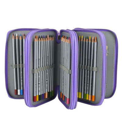 72 Slot Colored Pencil Case Pencils Bag For Drawing Painting Office Organizer