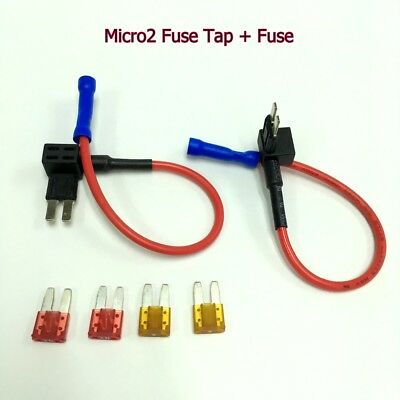 2 x FH146 APT ATR Micro2 Fuse Tap Add-A-Circuit Adapter +5A 10A Fuse #UKgtz