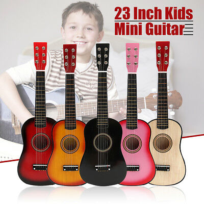 23'' Kids Acoustic Guitar 6 String Practice Music Instruments Children Gifts