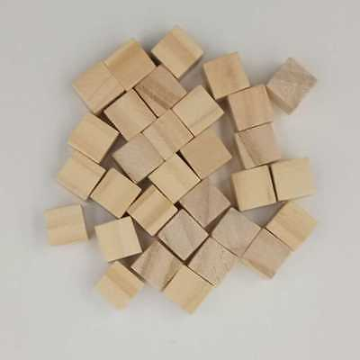 10/25/25/30/40/50mm Wooden Square Bricks Building Blocks Mini Cubes Craft DIY