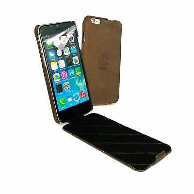 Tuff-Luv Personalised Western Leather Tuff-Grip Case Cover for iPhone 6/6s -Brn