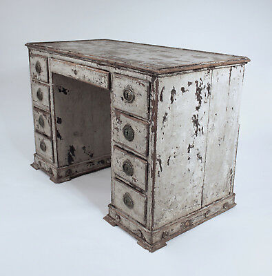 Antique French Kneehole Desk Dressing Table