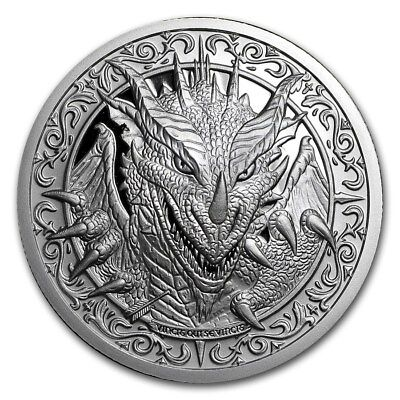 """2oz Destiny Knight Coin """"The Dragon"""" 999 Fine Silver Round  2nd coin in series"""