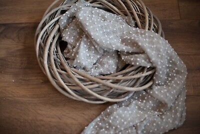 Cool Grey Newborn Knit Textured Stretch Wrap Baby Photo Photography Prop