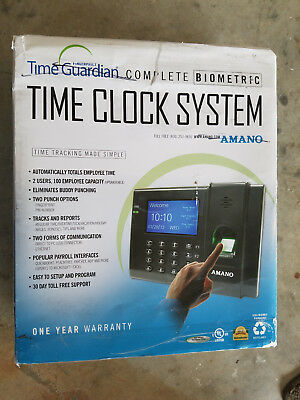 Time Guardian Amano Complete Biometric Time Clock System AMX-700700 NEW
