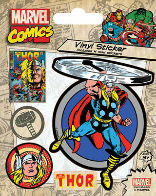 Marvel Comics Thor Retro Stickerset Sticker Aufkleber 10x12,5cm
