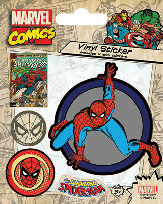 Marvel Comics Spiderman Retro Stickerset Sticker Aufkleber 10x12,5cm