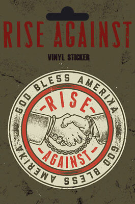 Rise Against - Shaking Hands - Sticker Aufkleber - Größe Ø9 cm