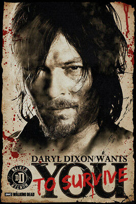 The Walking Dead - Daryl Wants You - TV-Serie Film Poster Druck