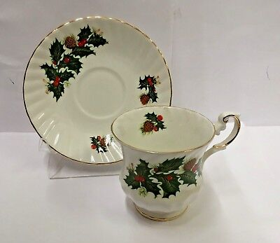 Rosina-Queens YULETIDE (Scalloped) Cup and Saucer Set CSFM3  BEST More Available