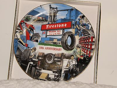Firestone Tire 10th Anniversary Wilson North Carolina Plant Plate