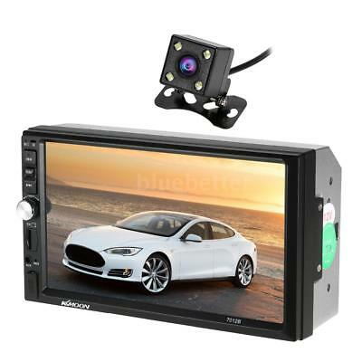 """7"""" BT  Double 2DIN Touch Screen Car Stereo Radio MP5  Player HD+Camera Z0L5"""