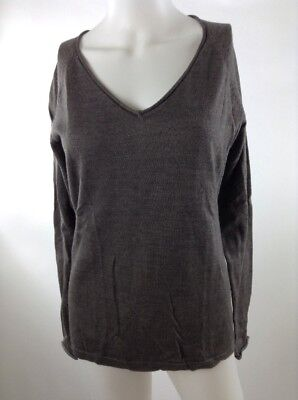 c3ce734a1dd Smartwool Women Granite Falls V-neck Sweater Taupe Heather Medium SR254-736
