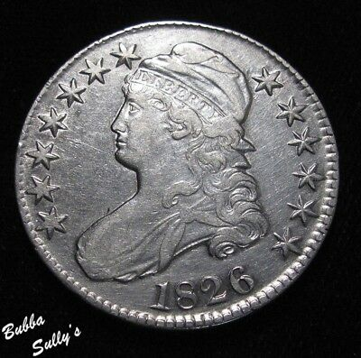 1826 Capped Bust Half Dollar <> XF Details