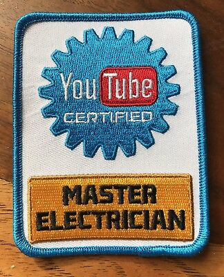 YouTube Certified Electrician Patch - YouTube Certified Master Electrician Patch