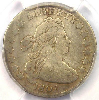1807 Draped Bust Dime 10C Coin - Certified PCGS VF Details - Rare Date!