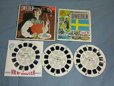 SWEDEN View-Master 3 Reel Packet #B 151 with Booklet Nations of The World Series