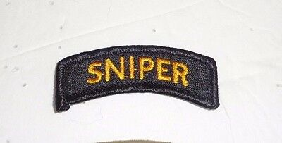 Army Patch  Unofficial Sniper Tab, Black And Gold Color