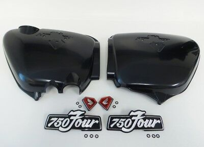Honda CB750 1975-1977 Side cover and Emblems Set - Red Diamonds