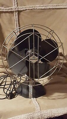 Vintage Robbins And Meyers Art Deco Electric Fan 1937 model D10A6-02 Rare