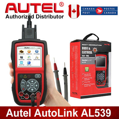 Autel AutoLink AL539 OBDII Car Diagnostic Code Reader Scan+Electrical Test Tool