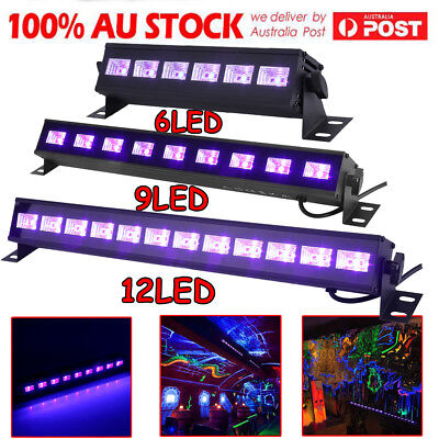 6/9/12LED UV Stage Light Black Light DMX Wall Washer Lamp Bar DJ Disco Party