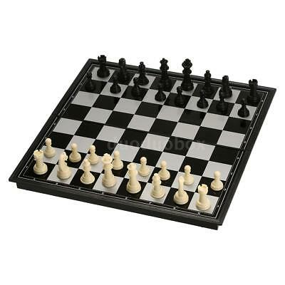 24.5*24.5cm Travel Mini Foldable Pocket  Plastic Chess Board Set Vacation O3K7
