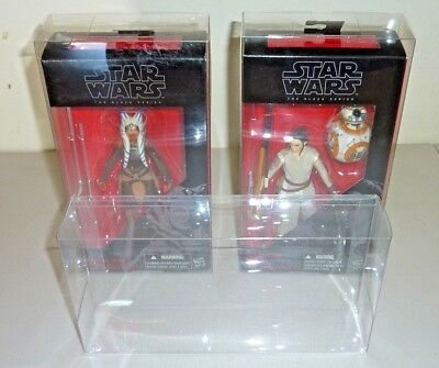 6 black series star wars figure box protector clear display case very thick