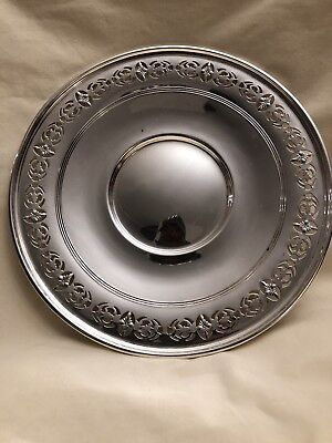 """BIRK STERLING 91/16 9"""" Solid Sterling Silver Plate 190g Weight Vintage Condition"""