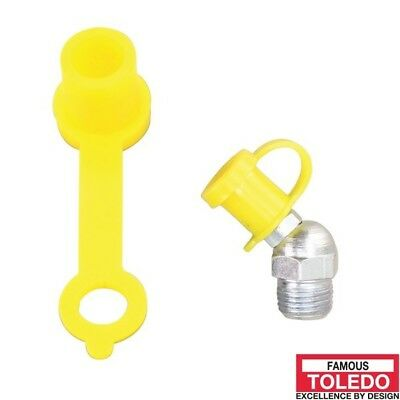 TOLEDO Grease Nipple Protective Caps - Yellow 50 Pack 305395