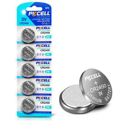 5PCS x CR2450 CR 2450 Button Cell Battery Coin Batteries For Watches,PKCELL