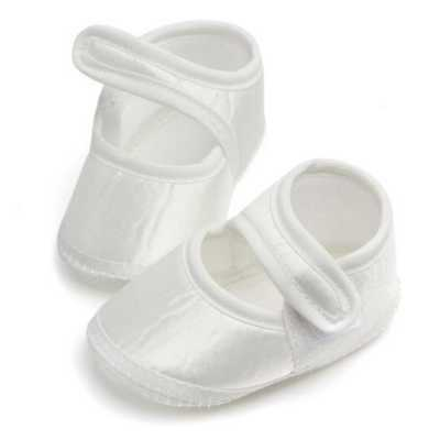 White Baby Infant Girls Toddler Shoes Newborn Prewalker Cribber Sneaker Loafer